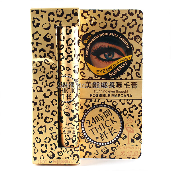 WholesaleBlack Mascara Cosmetic Curl Volume Eyelash Extension Grower Long Fiber MakeupFree&DropShipping(China (Mainland))