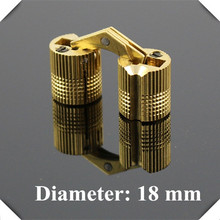10pcs/lot 18mm Brass Invisible furniture hinge Hidden Hinges Barrel Hinge(China (Mainland))