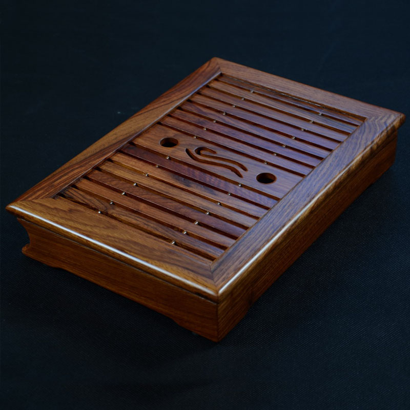 Tea tray, African wenge teaboard, chicken wing wood tray, wood tea table, saucer, drawer tray, 33.5-23.5-6CM(China (Mainland))