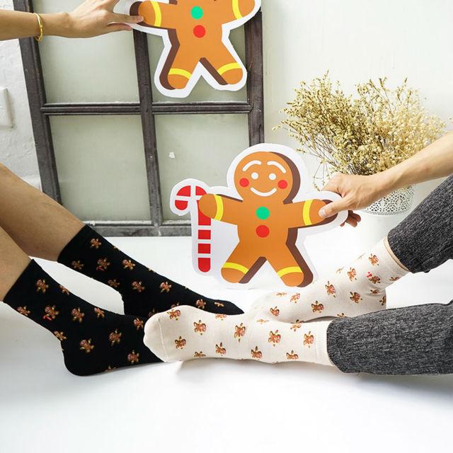 2016 новых творческих женские и мужские колобок носки новинка хэллоуин костыль подарок рисунком с носки Harajuku хлопок носки