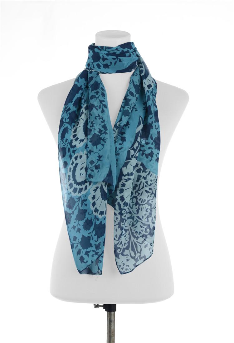 2 Piece 2015 New High Quality Printed Scarves Shawl Silk Scarf Chiffon Hijab 4 Colors Free Shipp(China (Mainland))