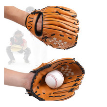 Brown durable12.5 inch adult softball baseball gloves professional sports player pitcher baseball gloves men leather gloves(China (Mainland))