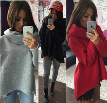 S-XL Christmas clothes 2015 New Arrival Women Winter Hoodies Scarf Collar Long Sleeve Fashion Casual Style Autumn Sweatshirts