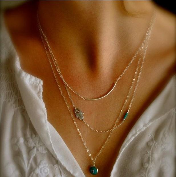 Колье-цепь Anna Jewelry Collares & Bijuterias A263 колье honey jewelry колье перея