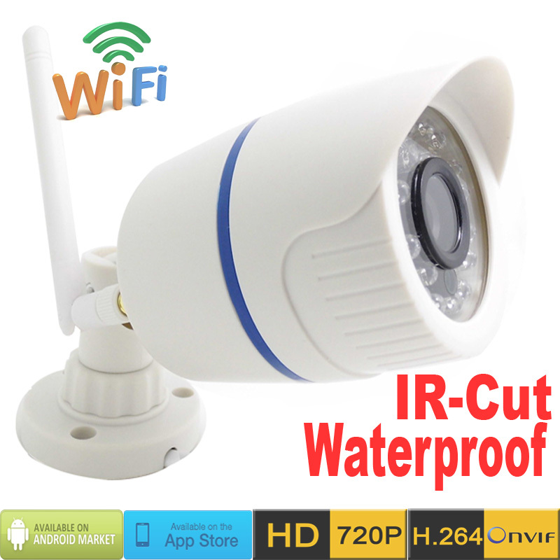 720P CCTV IP Camera HD Wireless Mini Bullet WIFI Cameras Outdoor waterproof network Surveillance Security system ip cam Infrared(China (Mainland))