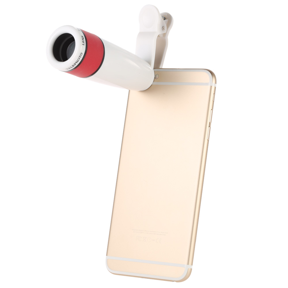 12X Optical Zoom Camera Wide Angle Fish Eye Macro Telephoto Lens Phone Telescope 3 in1 Clip on Lens Kit for IPhone 6 6S Samsung(China (Mainland))
