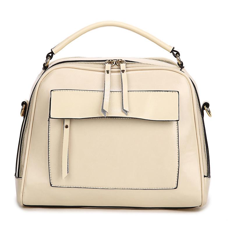 Фотография REGEM 2016 women Japan and Korean style Genuine leather Boston bags female