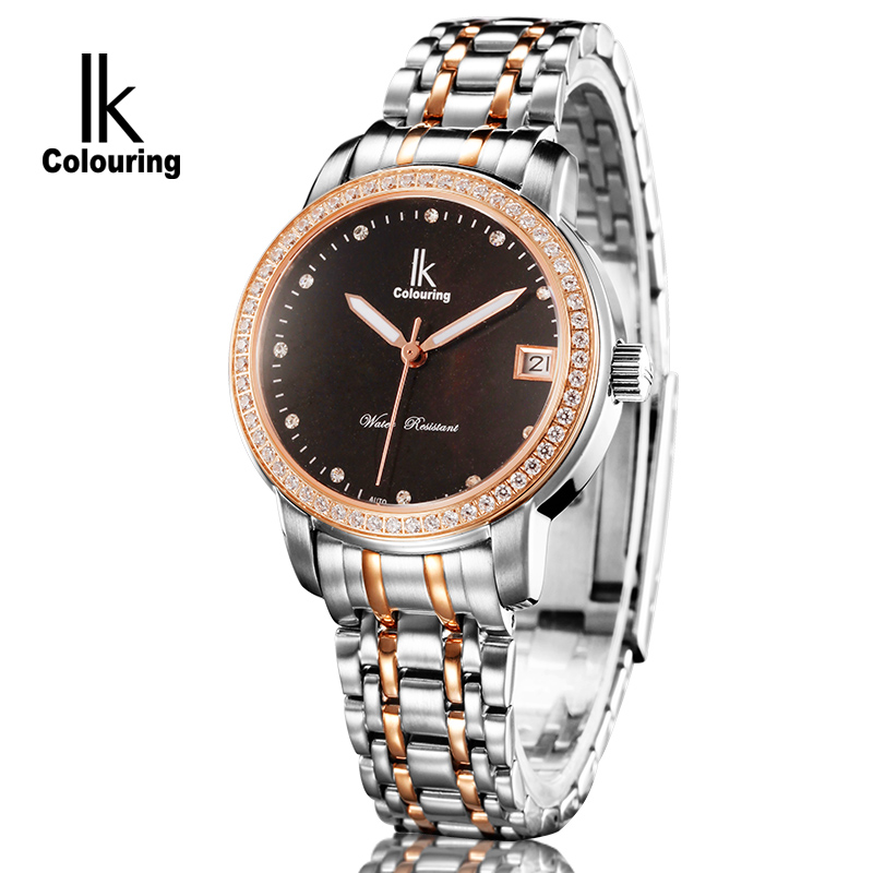 ik colouring montre femme women sapphire day crystal auto mechanical watch waterproof watches. Black Bedroom Furniture Sets. Home Design Ideas