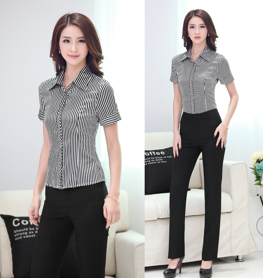 Formal Blouse And Slacks - Breeze Clothing