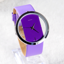 2015 New Fashion women dress watches luxury brand relojes hours analog leather strap relogios Exquisite Hollow