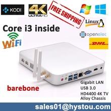 Мини-ПК с Windows 8.1 с Intel Dual Core i3 Haswell 4010U процессора Intel HD 4400 Графика поддерживает 4K + разрешение Blue-Ray
