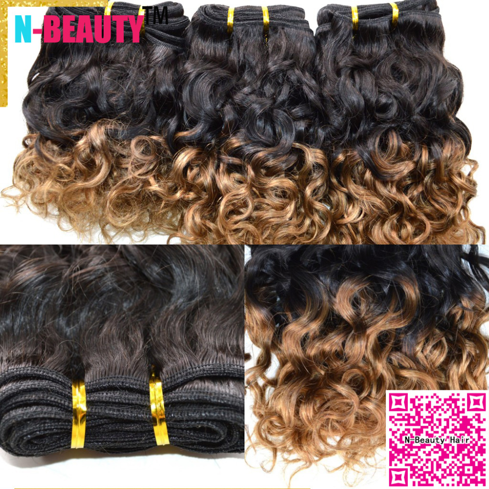 Здесь можно купить  Hot!Ombre Human Hair Two Tone Color 8A Unprocessed Virgin Funmi Peruvian Hair Loose Wave Weave Ombre Hair Extensions 3pcs/lot  Волосы и аксессуары