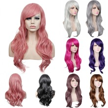 70cm Long Black/red/silver daily synthetic hair wig,heat resistant fiber anime cosplay wig hair,ladies party hair wig peruca(China (Mainland))
