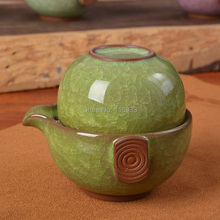 10 color Crackle Glaze kung fu tea sets 1 teapot+1cup portable porcelain tea set ceramic travel set quick cup chinese  teaset