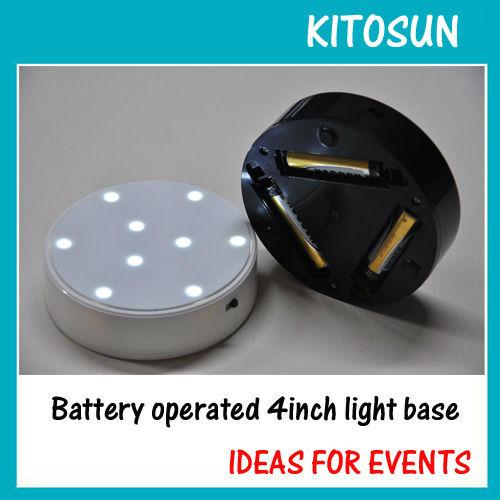 """Magic LED Light Base, 4"""" Diameter x 1.1"""" Height Round shape super bright led light base(China (Mainland))"""
