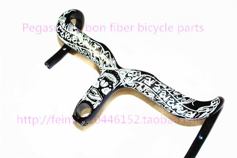 2014 New Cinelli Ram Mike Giant full carbon fiber road bike handlebar bend Siamese road bike accessories(China (Mainland))