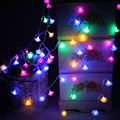 Bright 8M 50 led String lights AA Battery Operated Rose floral Fairy lights for Christmas Wedding