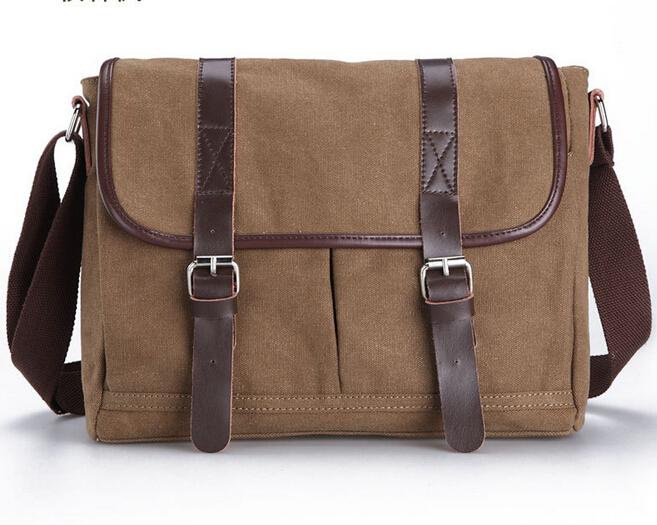 Livraison Gratuite CHAUDE sac à bandoulière en Toile hommes, vintage Toile messenger sacs ordinateur portable toile satchel hommes pour sac à main(China (Mainland))