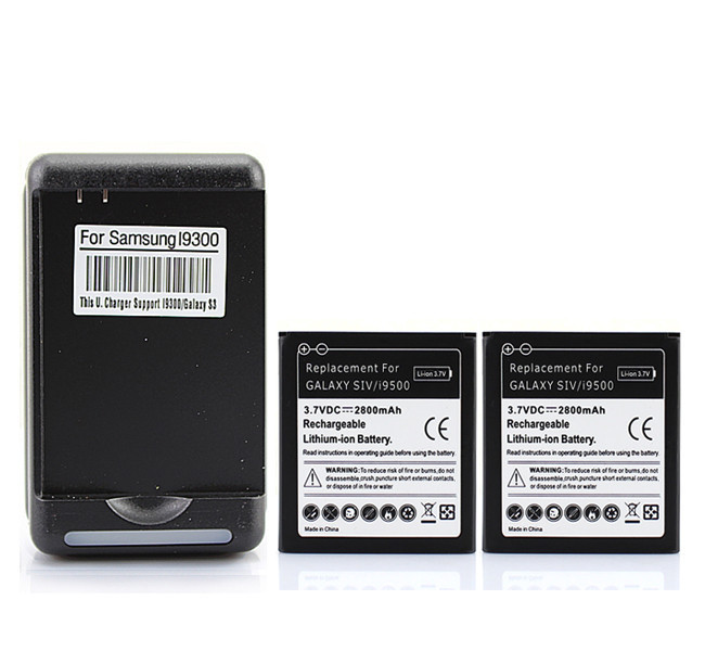 for samsung galaxy s4 batterie siv i9500 2x 2800mah replacement battery high capacity wall. Black Bedroom Furniture Sets. Home Design Ideas