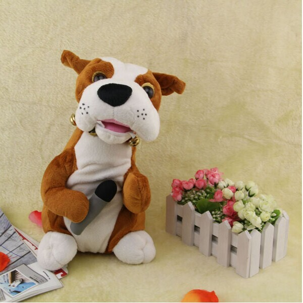 Toys That Move : Cute toy dog will move the mouth microphone singing