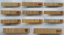2015 New  Fashion Tie Clip For Men's All kinds Of Classic Popular Designs Bamboo Wood Laser Cut Jewelry (China (Mainland))