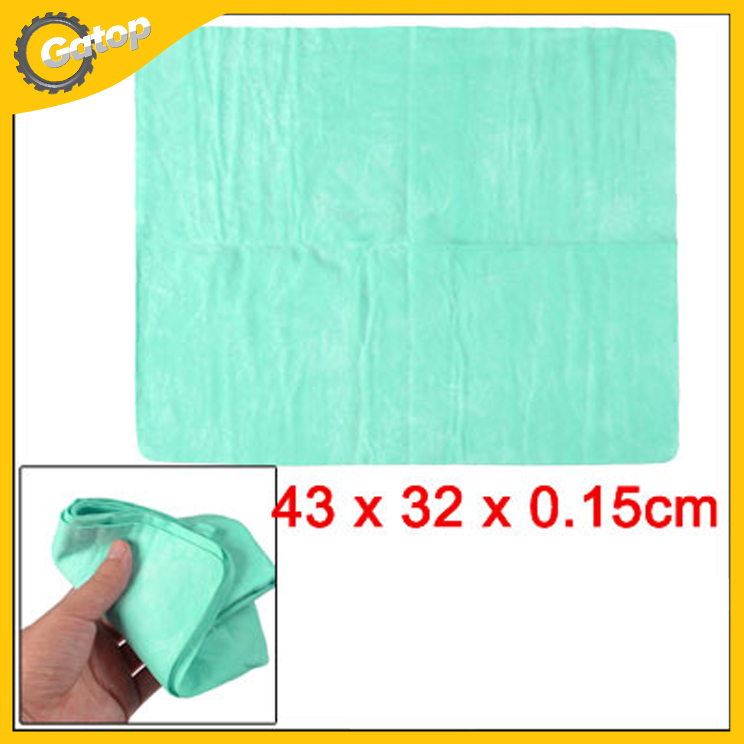 Car cleaning Towel Synthetic Chamois Cloth in green 43*32*0.15cm for household use/keep hair dry/clean the furniture(China (Mainland))