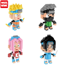 Wisehawk Naruto Anime Model Toy Action Figure Diamond Building Blocks Decoration Collection Toys Gift For 8+ Teen