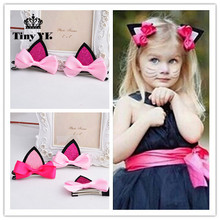 Buy 2 pieces =1 pair children baby girls hair accessories clip Kids hairpins barrettes Bow headwear flower cat ears hairpin for $0.95 in AliExpress store