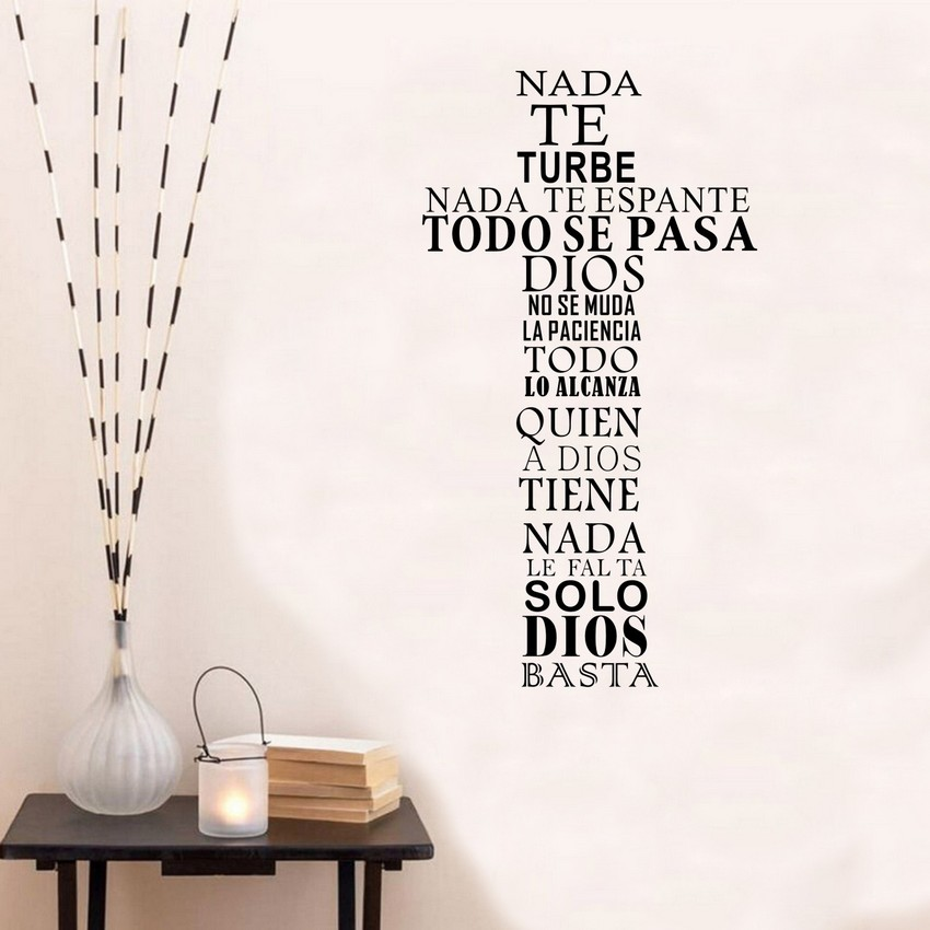Espa ol dios vinyl cita pared sticker decal cristiana for Phrases murales