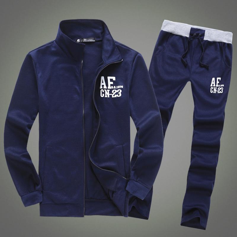 Free Shipping 2014New Men's set sport suit,Moleton Men's zipper Cardigan,autumn winter lovers casual Hoodies dress coat 3 colors(China (Mainland))