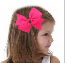 20Clrs New Fashion Hot children kids Baby girls ribbon Swallow Bowknot Headwear Hairgrips Hairpins Head Piece Accessories
