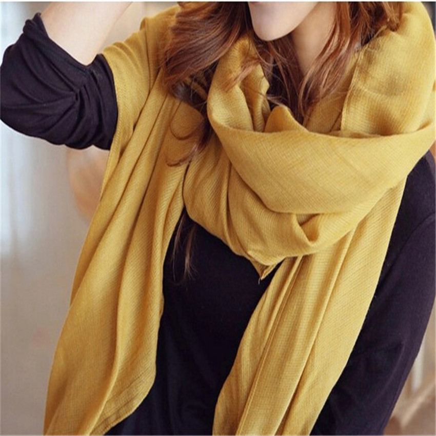 12Colors NEW Fashion Women's Lady's Large Cotton Shawl Scarf Scarves 180 * 110cm CH107(China (Mainland))