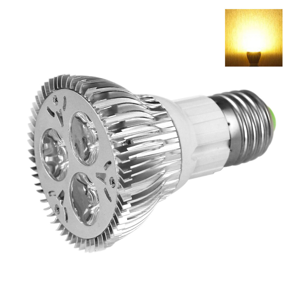 Dimmable 3*3W E27 PAR20 LED Bulb Small Spotlight Lamp Warm White AC 110V/ 220V Led Spot Light(China (Mainland))