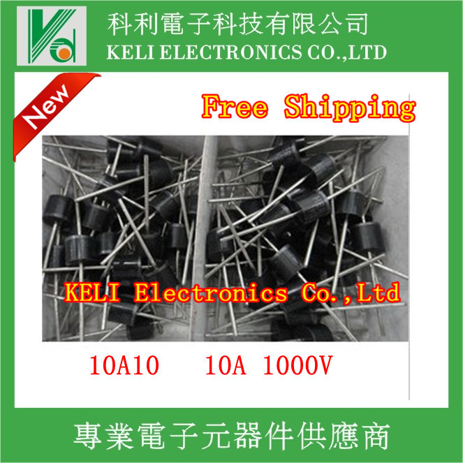 FREE SHIPPING 20PCS LOT 10A10 10 Amp 1000V 10A 1000V Axial Rectifier Diode100 NEW