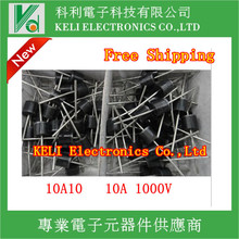 FREE SHIPPING 20PCS/LOT 10A10 10 Amp 1000V 10A 1000V Axial Rectifier Diode100% NEW