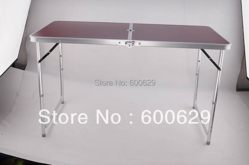2013 NEW Lightweight aluminum portable barbecue casual outdoor camping folding table 2pcs/lot,free shipping(China (Mainland))