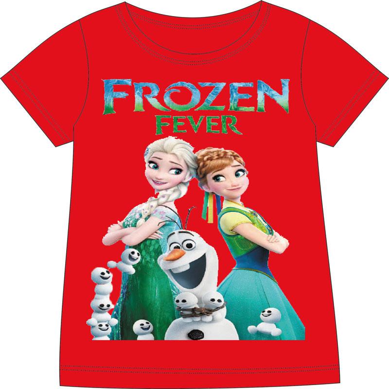 retail summer anna elsa t shirt children shirts short sleeve kids clothes cotton girl girls top - Baby and Children Store store