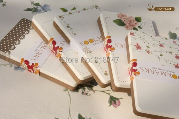 SALE! 5.4*8.6cm Floral/Dots/Rose Packaging Cards,floral printed bookmarks,Paper Message cards tag 120pcs 078003033(China (Mainland))