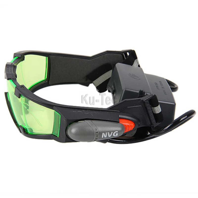 Ulincos Sport Camping Anti Slip Binocular Hunting Night Vision Goggles With Flip Out Lights Green Lens