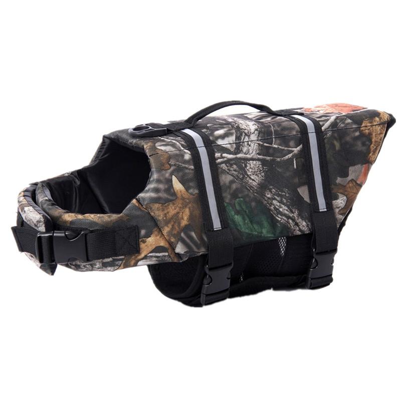 Free Shipping Camouflage Pet Dog Swimming Life Jacket Preserver Life Vest Coat With Adjustable Belt(China (Mainland))