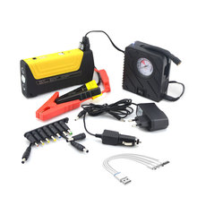 Portable starter battery booster multifunction car jump starter 12/16/19v laptop power bank with emergency tools air compressor