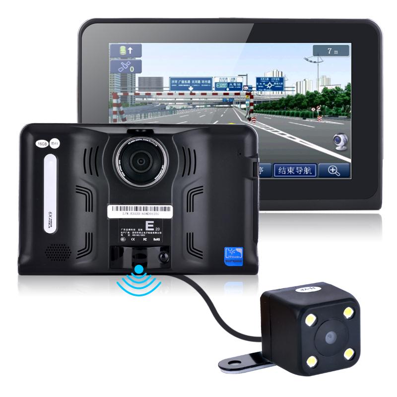 7inch 16GB Android Vehicle GPS Navigation Rear view cameraTruck Car GPS Navigator Tablet PC Car Radar Detector(China (Mainland))