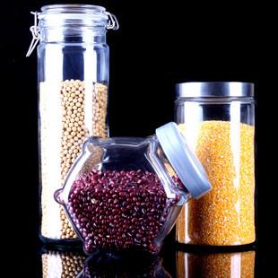 Hebe environmental moisture jars glass canisters Canister Canister milk cans cans grains(China (Mainland))