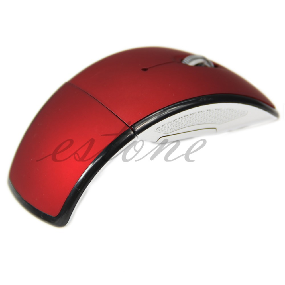 2 4G Snap in Transceiver Fold Wireless Mouse Cordless Mice USB Folding Mouse