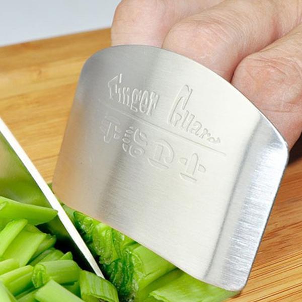 Kitchen knife cut vegetable palm rest finger