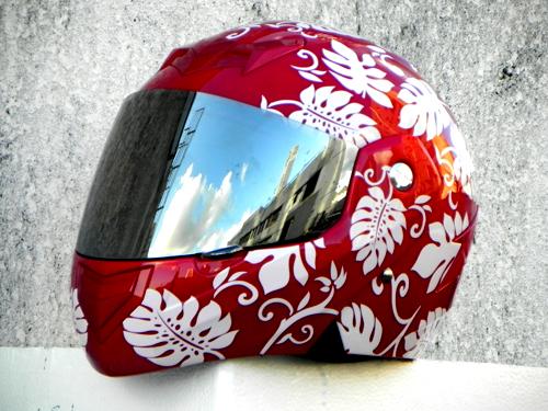 Mary Star children electric car helmet motorcycle helmet MASEI expose visor 881 red and white<br>