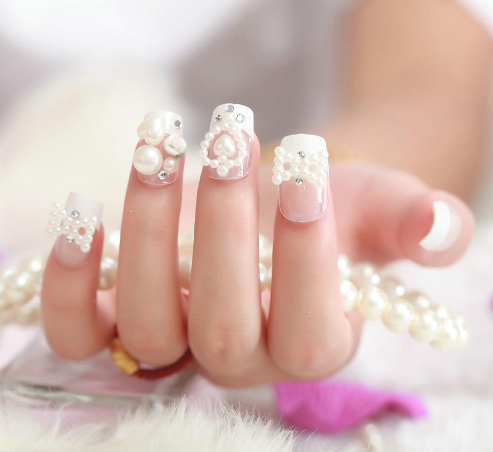 2015 French New Orb 3d nail strips bride false nail brief paragraph nail product(China (Mainland))