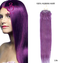 18inch-46cm Micro rings/Loops remy hair extension 50pieces/LOT 25gram #Lila- Light purple color