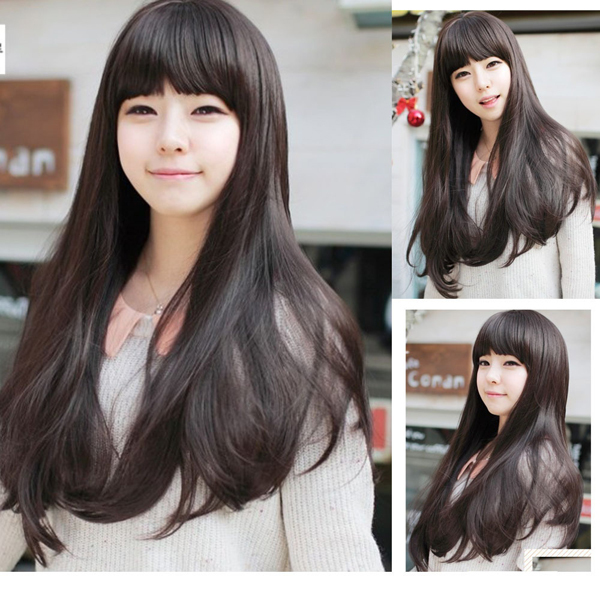 New Style Womens Girls Sexy Long Fashion Curly Full Wig+wigs cap gift(China (Mainland))