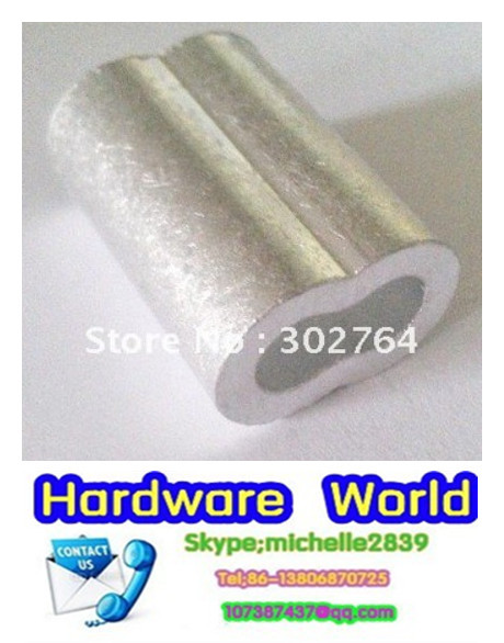 M2.5 X200PCS  2.5MM aluminum FERRULES TO SUIT STAINLESS WIRE ROPE free shippingmarine hardware